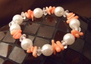 Peachy Pink Bracelet-$5 from The Pink Locket