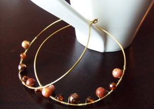 Desert Sand Hoop Earrings-Custom Design