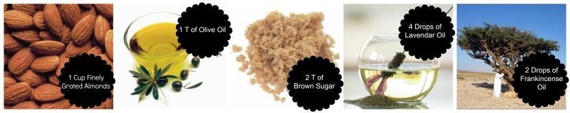 Almond Body Scrub Ingredients