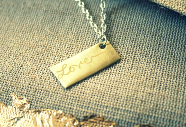 Personalized Love Gold and Silver Necklace