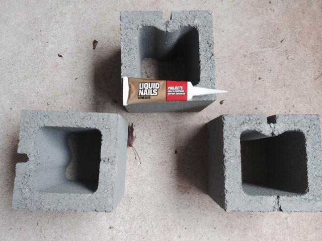 Cinder block Table