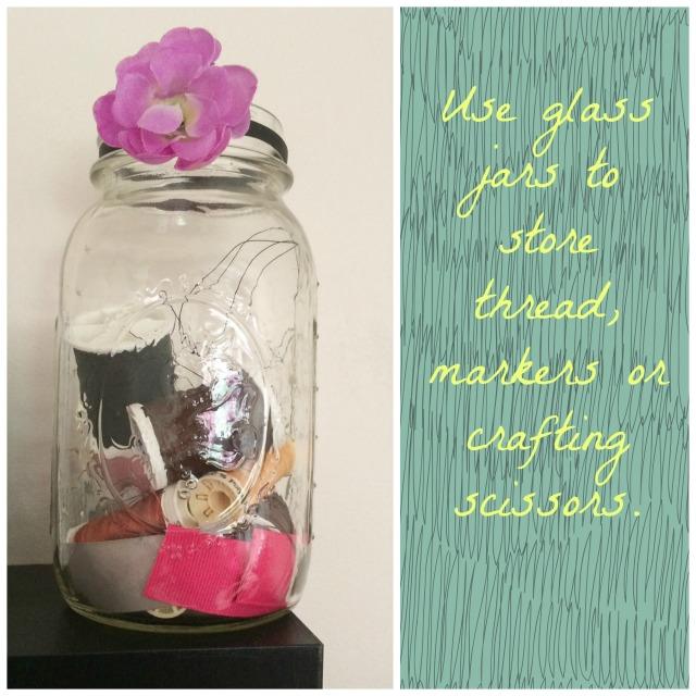 glass jars office jars