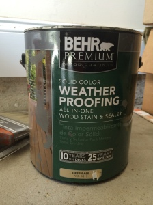 Behr Weatherproofing paint