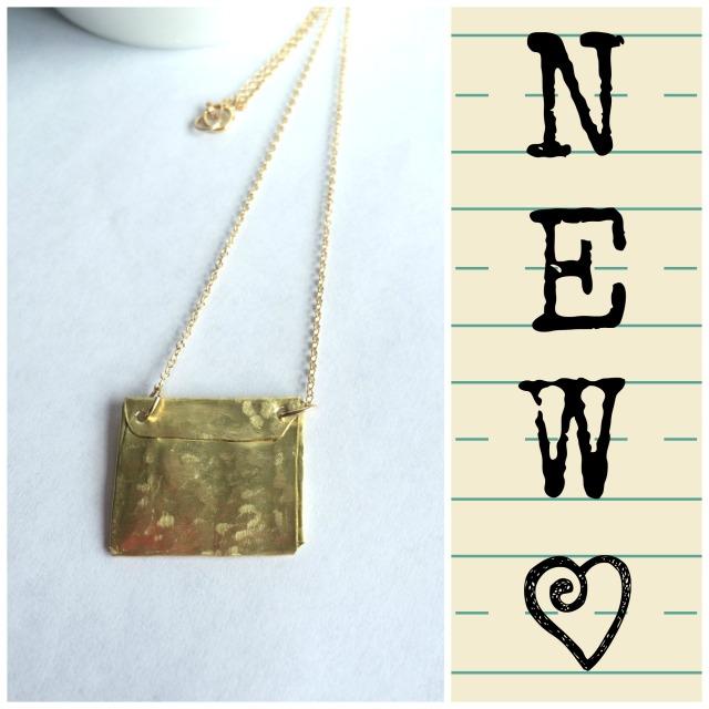 Gold Envelope Necklace
