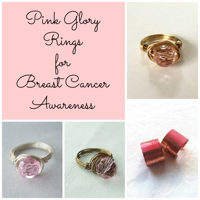 Pink Glory rings collage