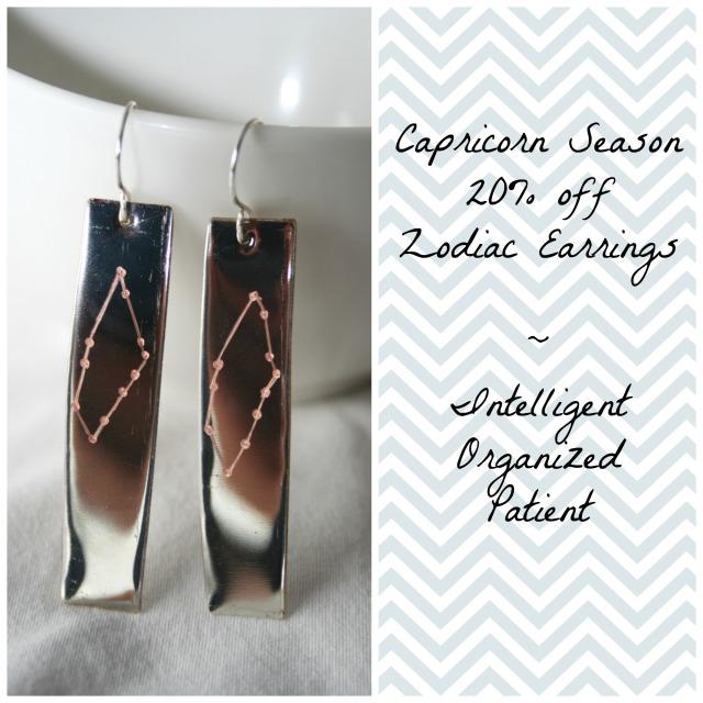Capricorn Earrings