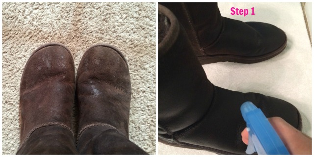Cleaning Uggs Step 1