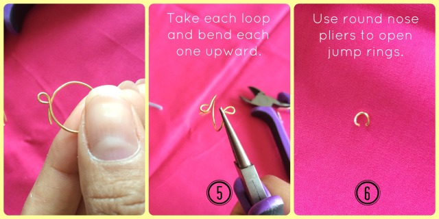 Chain Midi Rings Steps 5 through 6