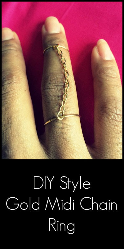 DIY Style Gold Midi Chain Ring