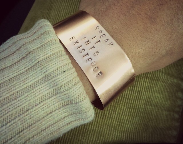 Motivational Copper Cuff