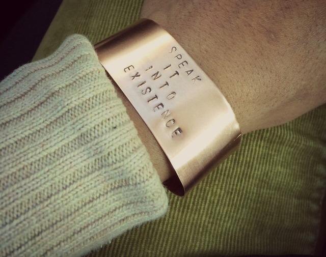 Motivational Copper Cuff