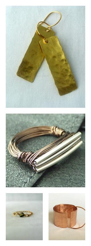 Handmade Metal Jewelry Collage