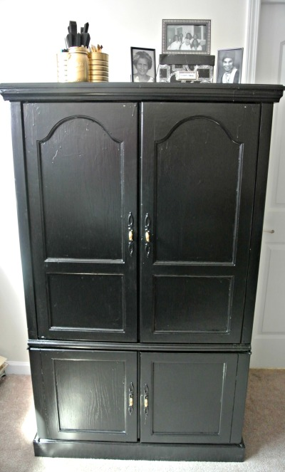 Jewelry Work Station Armoire DIY