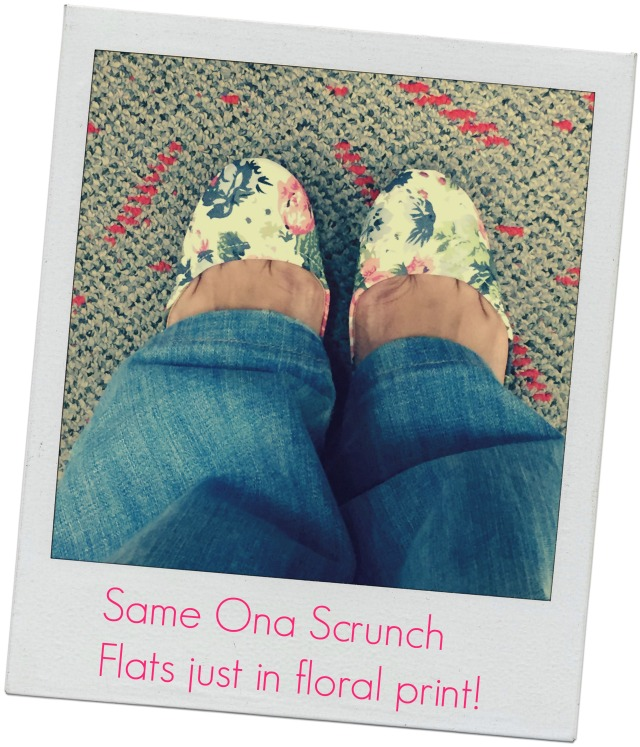 Ona Scrunch flats in floral